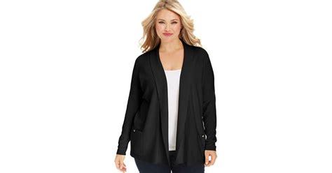 Long Sleeve Black Cardigan Plus Size