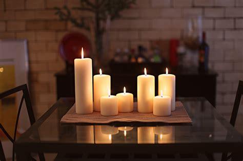 White Candles Decoration Home Interior Design