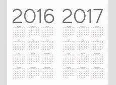 Calendar 2016 2017 Vector Free Download CdrAi