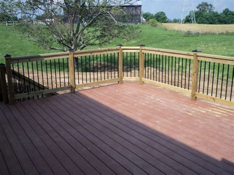 composite deck with wood railing composite decks