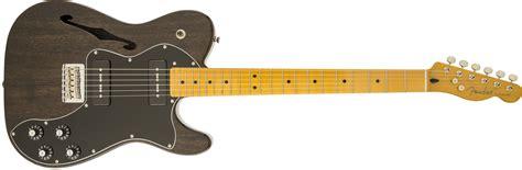 fender modern player telecaster 174 thinline deluxe maple fingerboard black transparent