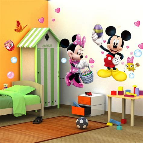 mickey minnie mouse wall sticker vinyl decals mural baby nursery decor ebay