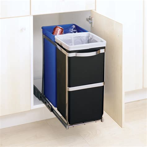 simplehuman in cabinet trash can inspirative cabinet