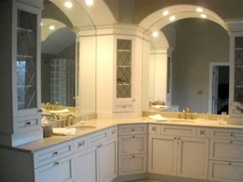 l shaped vanity home remodel ideas