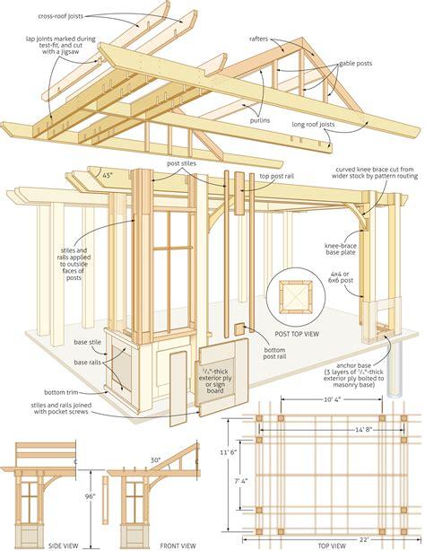pergola building plans plans free