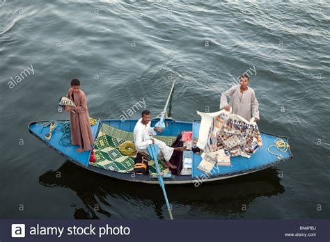 Boat Sale Egypt by Egyptian Traders In A Rowing Boat Trying To Sell Goods To