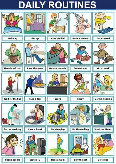 Cayon English Corner Daily Routines Poster