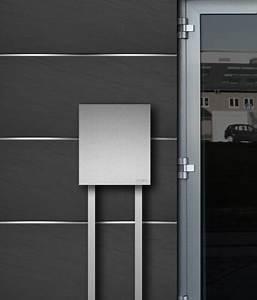 Briefkasten Edelstahl Design : briefkasten edelstahl b1 steel freistehend z e ~ Markanthonyermac.com Haus und Dekorationen