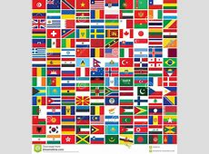 Seamless World Flags Background Stock Vector