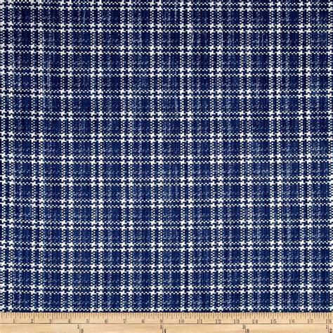 kaufman cotton boucle prints plaid indigo discount