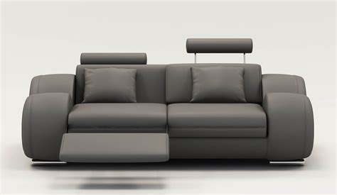 deco in 4 canape 2 places design relax oslo en cuir gris oslo 2pl gris