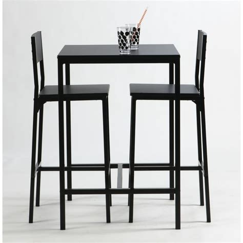 ensemble table haute et chaise de bar noir by drawer