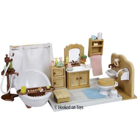 calico critters deluxe bathroom furniture set cc2480 ebay