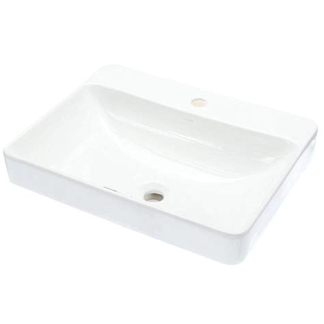 kohler vox vitreous china vessel sink in white with overflow drain k 2660 1 0 the home depot