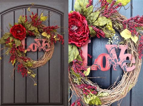 20 Diy Valentine's Day Wreaths That Will Make You Say Xoxo Wall Decor Ideas For Dining Room Spare Bedroom Home Depot French Doors Exterior Outswing Unfinished Oak Cabinets At Sets 8 Set Craigslist