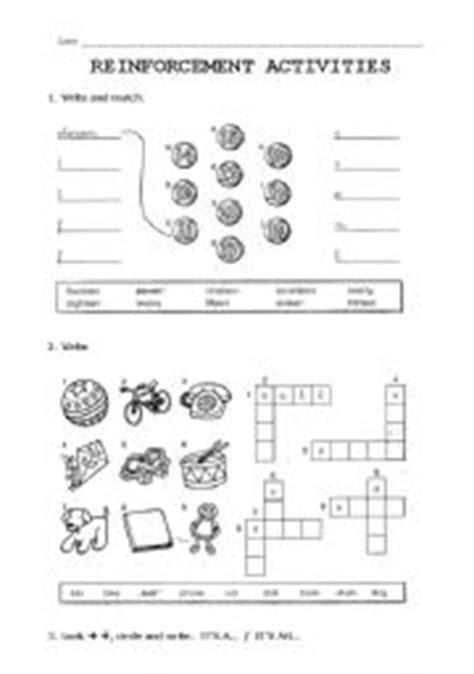 English Worksheet Reinforcement Activities