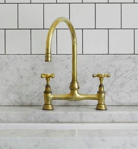 unlacquered brass faucet alden