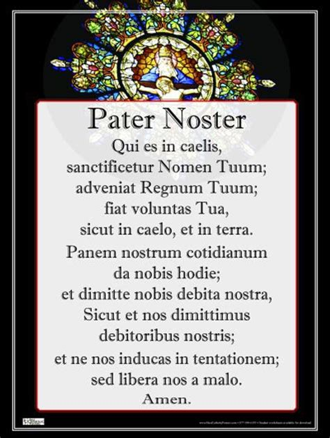 pater noster poster