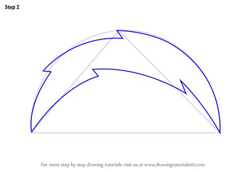 Learn How To Draw San Diego Chargers Logo (nfl) Step By