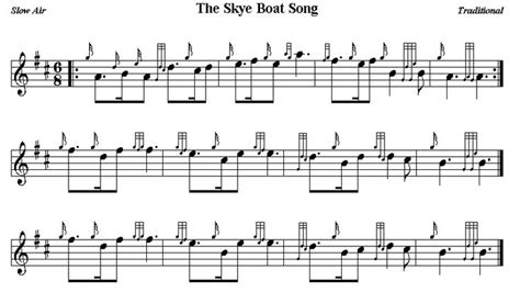 Skye Boat Song Bagpipes And Drums the skye boat song bagpipe sheet music pinterest