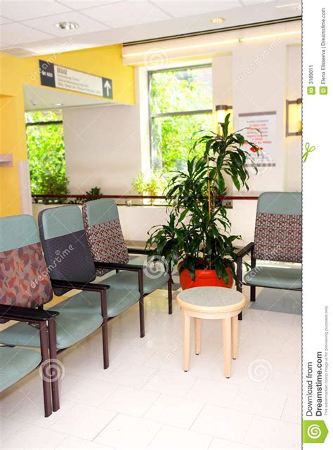 salle d attente d h 244 pital image stock image 3189011