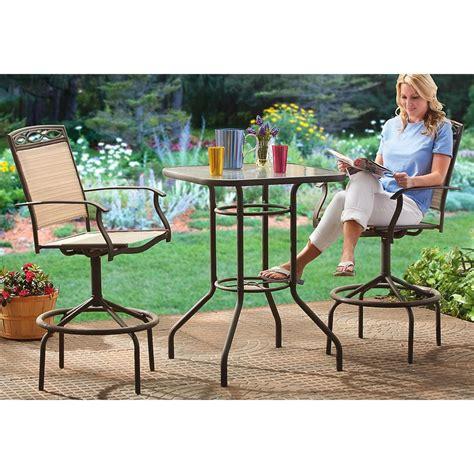 3 pc bar height patio furniture set 203568 patio