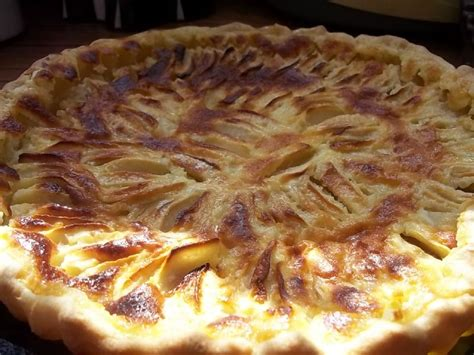 tarte aux pommes 224 la cr 232 me fraiche photo de tartes les douceurs de