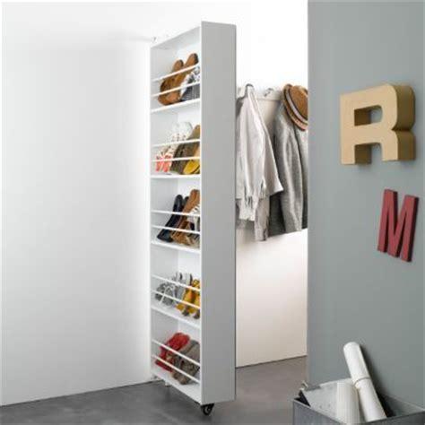 armoire chaussures pivotante avec miroir jusqu 224 15 paires ballik la redoute am 233 nagement