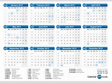 2015 Calendar Overview of Features
