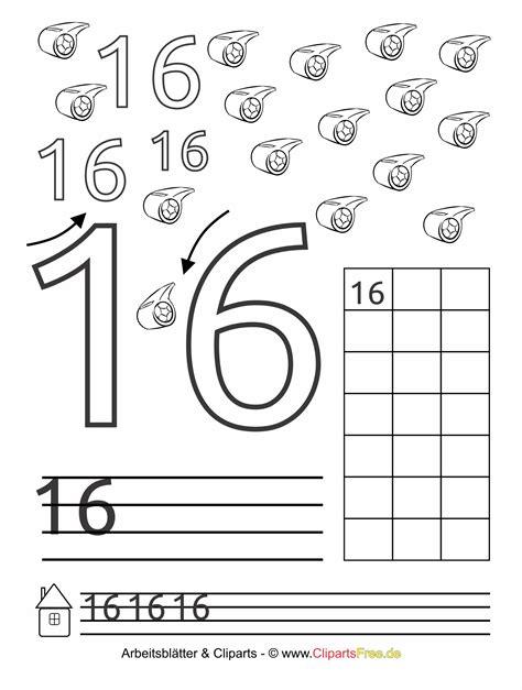 16  Zahlen schreiben lernen für Kindergartenkinder und