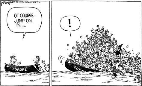 Cartoon Refugee Boat by America Must Help Deal With Refugee Crisis Editorials