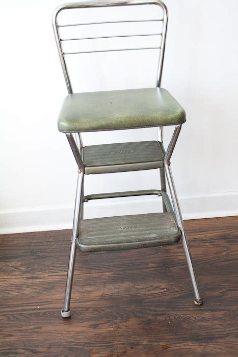vintage cosco kitchen chair step stool green by thespringfox
