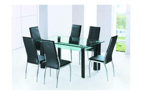 table salle a manger en verre alexandra noir ivoire chocolat meuble de salle 224 manger s 233 jour
