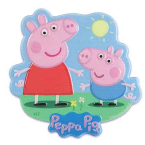 peppa pig family edible icing sheet cake decor topper pp3 bling your cake