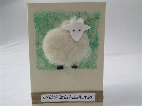 Handmade Greeting Card-sheep On Grass-rozcraft