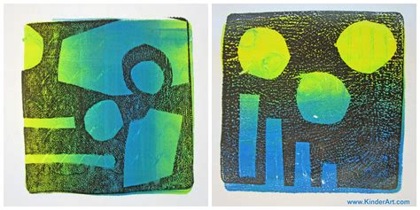 Gelli Arts Monoprinting Printmaking Lessons For Kids Kinderart
