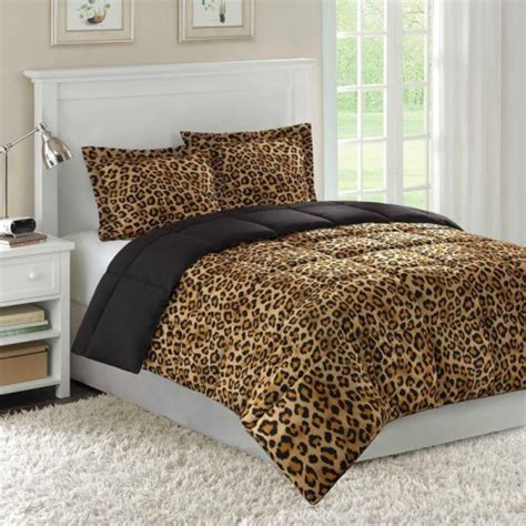 zaire comforter mini set cheetah print safari bedding