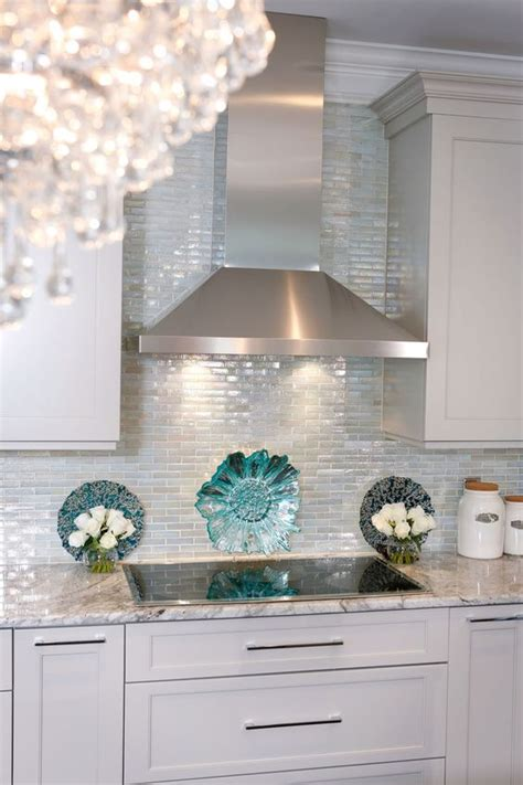iridescent glass tile by lunada bay stainless with