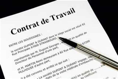 les contrats de travail g 233 n 233 ralit 233 s