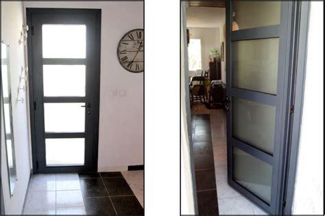 installation d une porte d entr 233 e alu ral 7016 montpellier une r 233 alisation ethique habitat h 233 rault