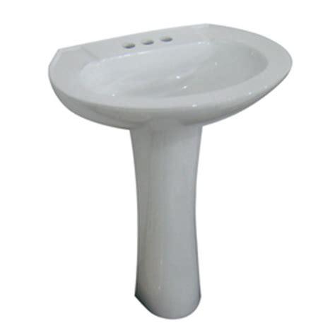 shop aquasource white complete pedestal sink at lowes
