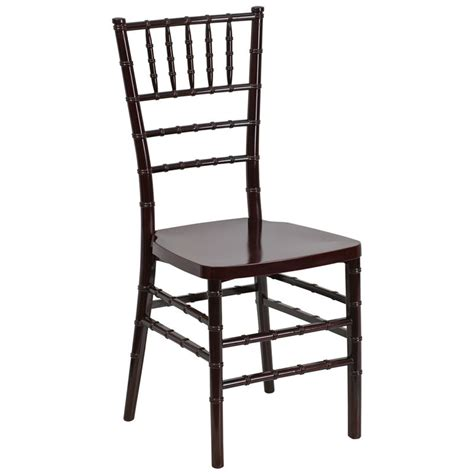 mahogany style chiavari chair in resin material banquet king