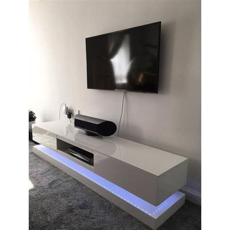 Sven   high gloss TV unit with LED lights   TV stands   Sena Home Furniture