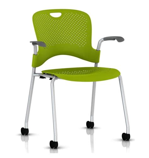 herman miller caper stacker chair with arms silver