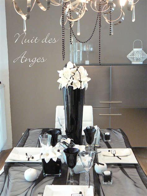 nuit des anges d 233 coratrice de mariage d 233 coratiojn de table noir et blanc 001 photo de