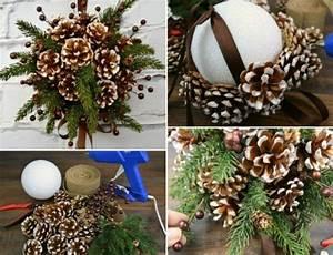 Styropor Selber Machen : weihnachtsdeko selber machen kissing ball styropor kugel tannenzapfen geschenkideen ~ Markanthonyermac.com Haus und Dekorationen