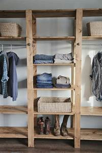 diy closet ideas DIY Industrial Style Wood Slat Closet System with ...