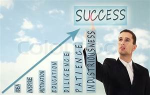 Businessman and concept of business success, growth and ...