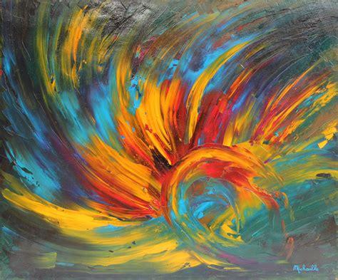 tableau quot eveil quot 60x50 cm peinture abstraite