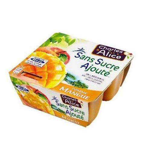 pomme mangue dessert fruitier sans sucre ajoute tous les produits compotes prixing
